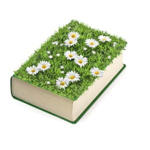 Bok med blomster